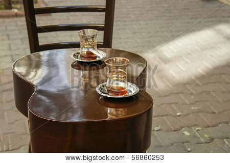 Tea Glasses On A Table