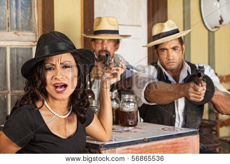 Female Gangster Yelling
