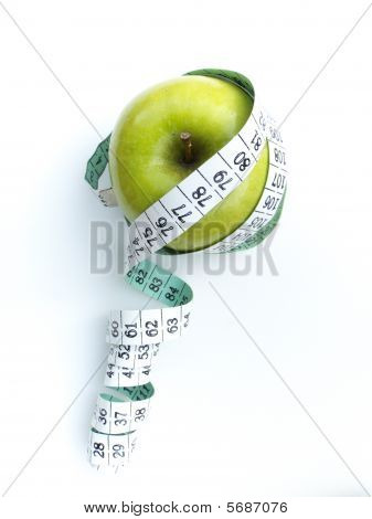 Apple Tape Measure Health Concept 2