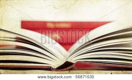 Open book - vintage photo