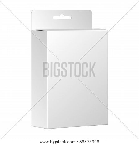 Blank White Product Package Box. Vector