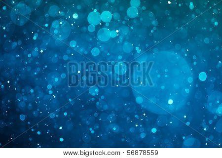 blue glowing bokeh background