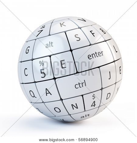 Sphere from keyboard keys