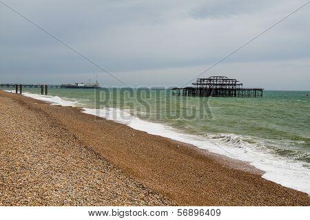 West Pier Ruins, Brighton Beach, England
