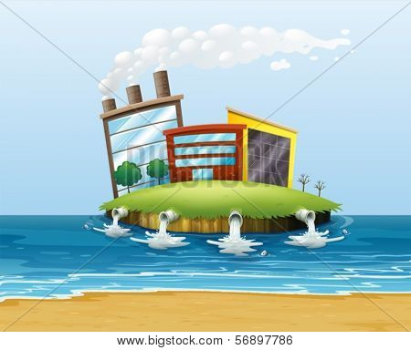 Illustration of a polluted environment
