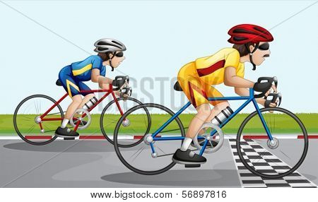 Illustration of a biking race