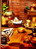 Luxury ayurvedic spa massage still life. poster