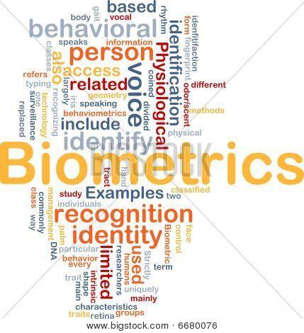 Biometrics Word Cloud