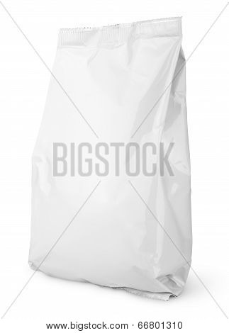Blank Snack bag package isolated on white with clipping path poster
