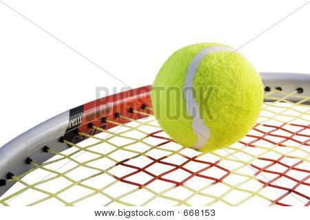 Tennis Ball On A Racket
