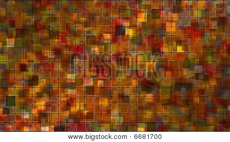 Orange - Red Mosaic