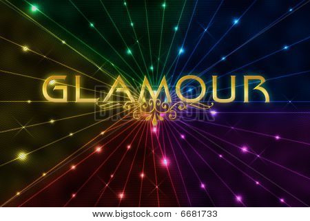 Glamour On Colour Background