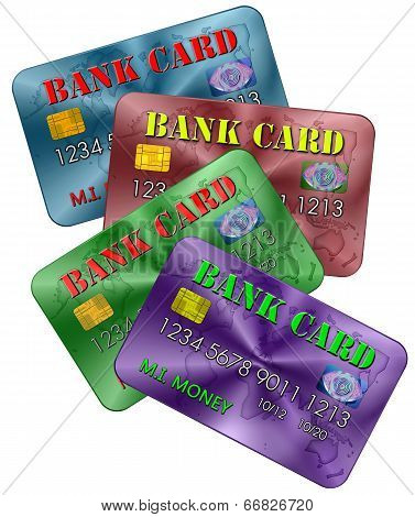 Scattered Bank Cards