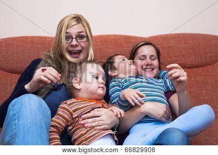 Happy Women With Children
