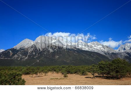 Jade Dragon Snow Mountain In Yunnan, China