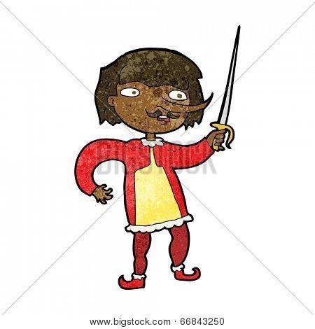 cartoon man with sword