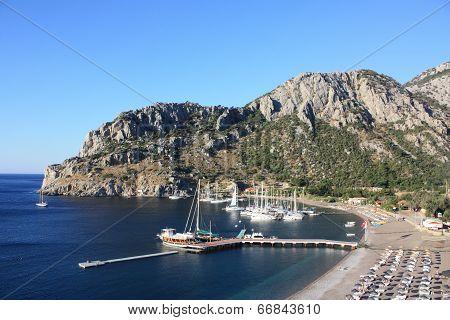 View Of Icmeler Bay, Aegean Sea