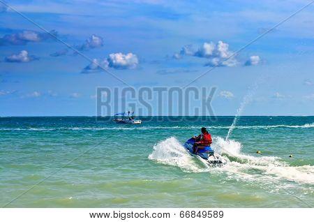 Jetski on the sea