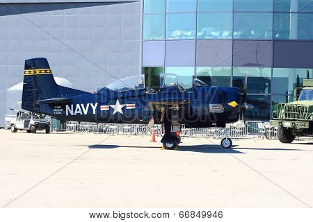 North American T-28 Trojan On Display - Hamilton Skyfest 2014