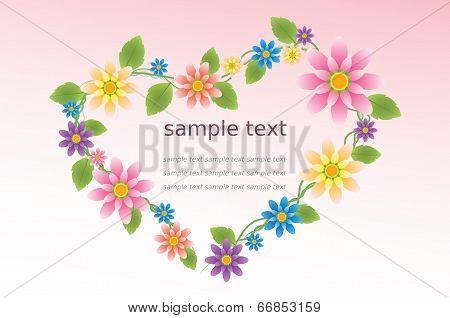 Flower In The Heart Shape