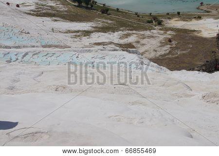 Calcium Deposits  On Travertine Terraces