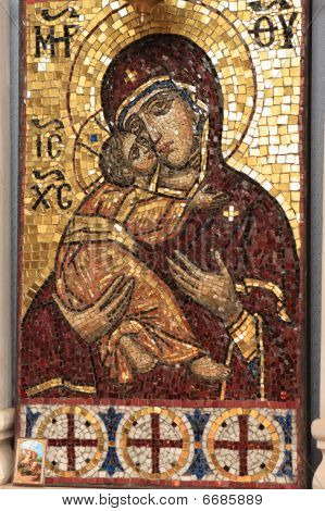 Icon Of Mary In Temple Of Pokrova Na Nerli