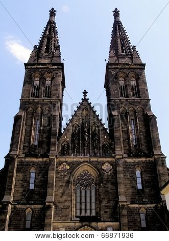 Prague - Vysehrad Cathedral of St. Peter and St. Paul in July 2009