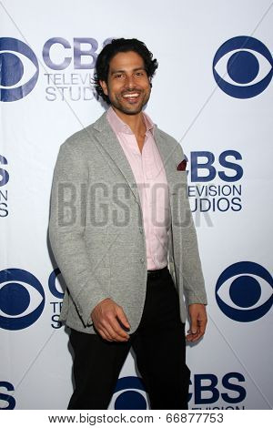 LOS ANGELES - MAY 19:  Adam Rodriguez at the CBS Summer Soiree at the London Hotel on May 19, 2014 in West Hollywood, CA