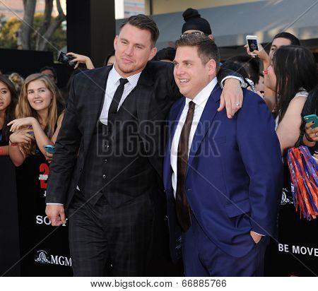 LOS ANGELES - JUN 09:  Channing Tatum & Jonah Hill arrives to the