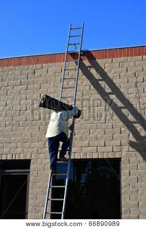 Workman on Ladder