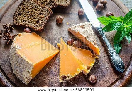 Mimolette With Hazelnuts