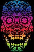 Day of the Dead Sugar Skull Design poster