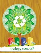 ecology card design segregation of garbage , vector illustration poster