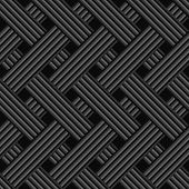 Black abstract seamless background. Diagonal ornament with rectangle tiles layered.... poster
