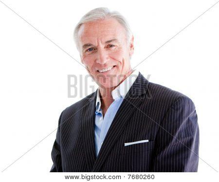Assertive Senior Businessman Standing