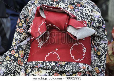 Kimono With Red Munsuko