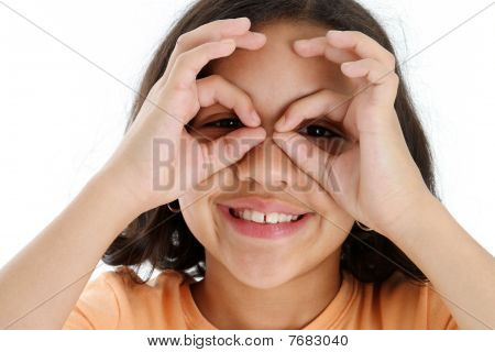 Child With Fake Glasses
