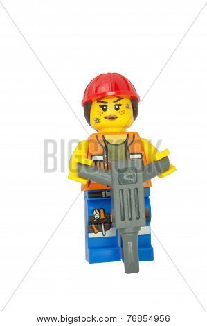 Gail The Construction Worker Lego Minifigure