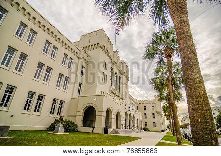 The Old Citadel Capus Buildings In Charleston South Carolina