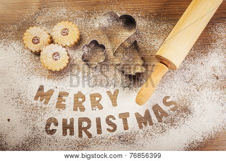 Christmas baking Merry Christmas subtitle