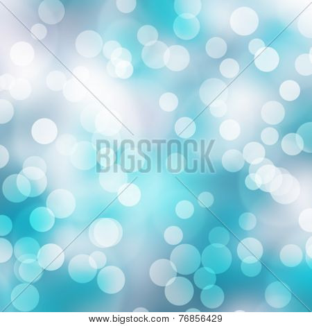 The Blue Bokeh Light Is Colorful