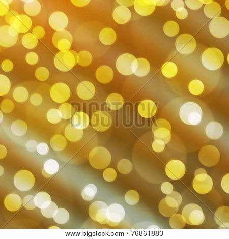 The Yellow Bokeh Light Is Colorful