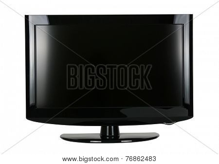 blank flat screen TV isolated on white background