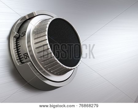 Combination safe dial lock. Concept of banking.  Closeup background. 3d