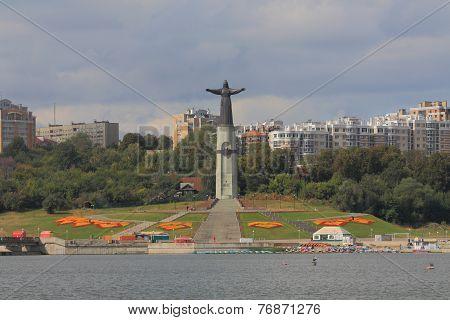 Mother patroness monument in Cheboksary
