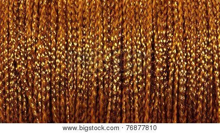 Gold thread - abstract background