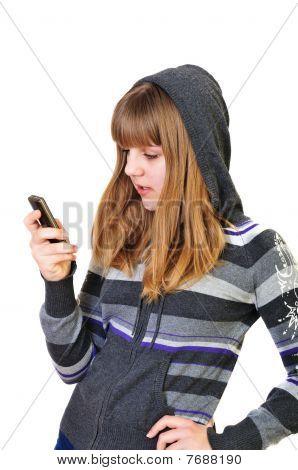 Teenage Girl Typing Sms