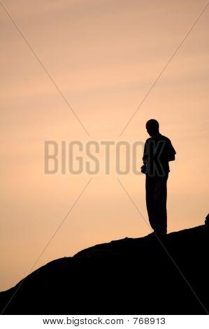 Descending the hill