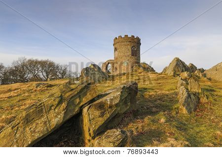 Old John in the early morning sun in Bradgate Park, Leicestershire England. poster