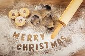 Christmas baking Merry Christmas subtitle